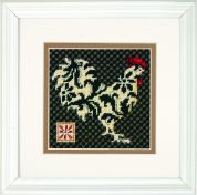 Dimensions Counted Cross Stitch Kit Black & White Rooster