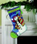 Dimensions Needlepoint Kit Stocking Happy Snowman