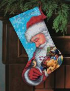 Dimensions Needlepoint Applique Stitching Stocking Kit Santa & Toys