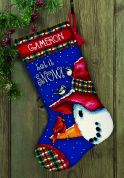 Dimensions Needlepoint Kit Snowman Perch Stocking