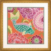 Dimensions Needlepoint Kit Koi with Flowers