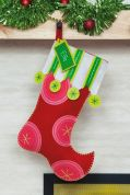Dimensions Felt Applique Stitching Stocking Kit Polka Dot
