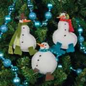 Dimensions Felt Applique Stitching Kit Simple Snowmen