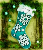 Dimensions Feltworks Stitch Applique Kit Flurries Stocking