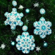 Dimensions Feltworks Stitch Applique Kit Flurries Ornaments, Set of 3