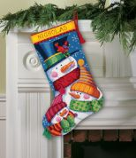 Dimensions Needlepoint Kit Stocking, Freezin Season