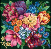 Dimensions Needlepoint Kit Floral Splendor