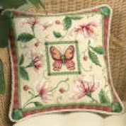 Dimensions Needlepoint Kit Honeysuckle Butterfly