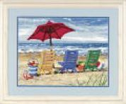Dimensions Needlepoint Kit Beach Chair Trio