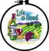 Dimensions Learn A Craft Counted Cross Stitch Kit Life Is Good