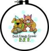 Dimensions Learn A Craft Stamped Cross Stitch Kit Best Friends Forever