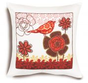 Dimensions Pillow Bird On Flower Embroidery Kit