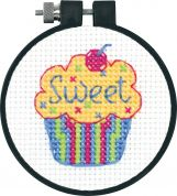 Dimensions Learn A Craft Counted Cross Stitch Kit Cupcakes