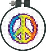 Dimensions Learn A Craft Counted Cross Stitch Kit Rainbow Peace