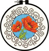 Dimensions Learn a Craft Stitching Kit Poppies