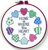 Dimensions Learn A Craft Stamped Cross Stitch Kit Home & Heart