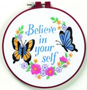 Dimensions Learn A Craft Crewel Embroidery Believe in Yourself