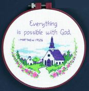 Dimensions Learn A Craft Counted Cross Stitch Kit Everything Is Possible
