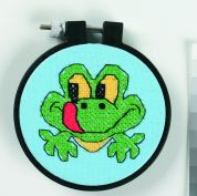 Dimensions Learn A Craft Stamped Cross Stitch Kit Friendly Frog