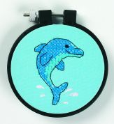 Dimensions Learn A Craft Stamped Cross Stitch Kit Dolphin Delight