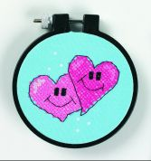 Dimensions Learn A Craft Stamped Cross Stitch Kit A Pair of Hearts