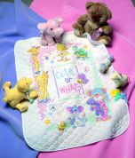 Dimensions Baby Hugs Kit Stamped Quilt Cute Or What?