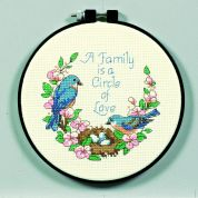 Dimensions Learn A Craft Counted Cross Stitch Kit Family Love