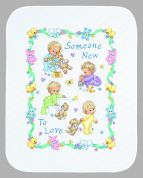 Dimensions Baby Hugs Kit Stamped Quilt Someone New Baby