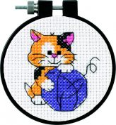 Dimensions Learn A Craft Counted Cross Stitch Kit Cute Kitty