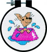 Dimensions Learn A Craft Counted Cross Stitch Kit Perky Puppy