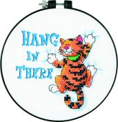 Dimensions Learn A Craft Stamped Cross Stitch Kit Hang in There