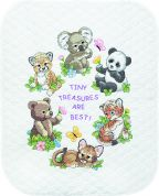 Dimensions Baby Hugs Kit Stamped Quilt Baby Animals
