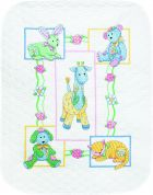 Dimensions Baby Hugs Kit Stamped Quilt Baby's Friends