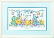 Dimensions Baby Hugs Kit Counted Baby Birth Record Baby's Friends