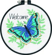 Dimensions Learn A Craft Counted Cross Stitch Kit Welcome Butterfly