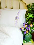 Dimensions Pillow Cases Kit for Embroidery Violets Nosegay