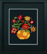 Dimensions Punch Needle Embroidery Kit Floral On Black