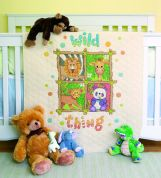 Dimensions Baby Hugs Stitching Kit Stamped Quilt Wild Thing
