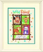 Dimensions Baby Hugs Stitching Kit Counted Baby Birth Record Wild Thing