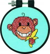 Dimensions Learn A Craft Stamped Cross Stitch Kit Monkey