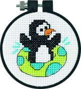 Dimensions Learn A Craft Counted Cross Stitch Kit Playful Penguin
