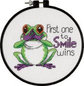 Dimensions Learn A Craft Counted Cross Stitch Kit First One to Smile