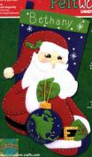 Dimensions Feltworks Stitching Kit Stocking Peace Santa