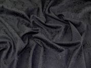 Baroque Stretch Brocade Dress Fabric  Black