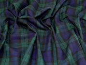 Polyester Viscose Suiting Fabric  Navy & Green