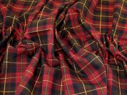 Polyester Viscose Suiting Fabric  Wine