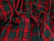 Polyester Viscose Suiting Fabric  Red & Green