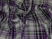 Polyester Viscose Suiting Fabric  Purple & Grey