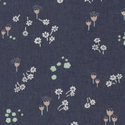 Art Gallery Fabrics The Denim Studio Collection Ditsy Abrasion Chambray Denim Fabric  Blue