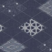 Art Gallery Fabrics The Denim Studio Collection Diamond Arcuate Chambray Denim Fabric  Blue
